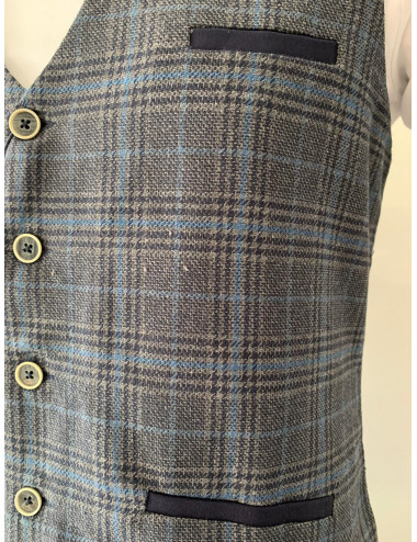 7686 CHECK WAISTCOAT WITH...